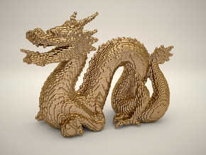 Cyber Dragon Stanford - Solid in Polished Gold Steel