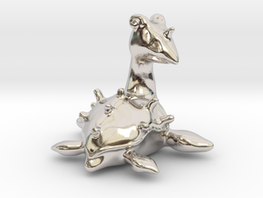 Lapras in Rhodium Plated Brass