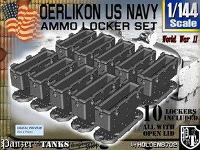 1/144 Oerlikon USN X10 Locker Open in Smooth Fine Detail Plastic