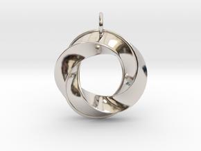 Mobius Pendant in Platinum