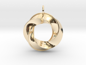 Mobius Pendant in 14k Gold Plated Brass