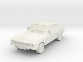 1:87 Ford capri mk 1 standard gl l hollow in White Natural Versatile Plastic