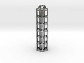 Tritium Lantern 5E (3x50mm/stacked 3x25mm Vials) in Natural Silver