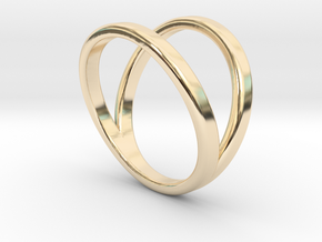 Split Ring Size 7 in 14k Gold Plated Brass