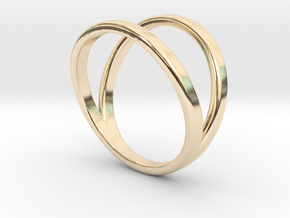 Split Ring Size 9 in 14k Gold Plated Brass