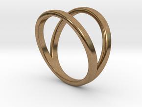 Split Ring Size 8 in Natural Brass