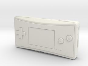 1:6 Nintendo Game Boy Micro (Silver) in White Natural Versatile Plastic