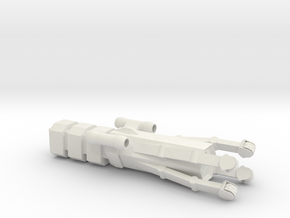 Type 17 Mining Ship in White Natural Versatile Plastic