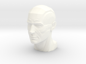 Male Planar Head in White Processed Versatile Plastic