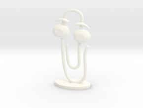 CLIPPY 2.0 (small) in White Processed Versatile Plastic