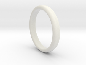 Ring Band Size 5 in White Natural Versatile Plastic