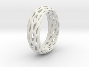 Trous Ring S11 in White Natural Versatile Plastic