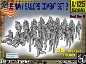 1/125 US Navy Sailors Combat SET 2 in Frosted Ultra Detail