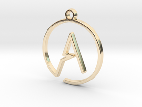 A Monogram Pendant in 14k Gold Plated Brass