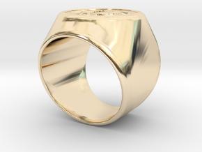 Riga Signet Ring v4 in 14k Gold Plated Brass