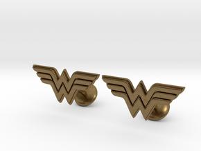 Wonder Woman Cufflinks in Natural Bronze