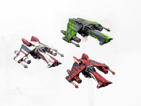3 pack Kihraxz Style Vaskai Starfighter S1 Variant in Frosted Extreme Detail