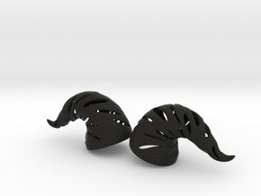 Wraith Demon Horns: Medium Human Size in Black Natural Versatile Plastic