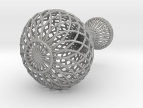 Flowerpot In Wireframe in Aluminum