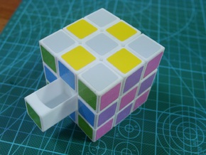 Full Functioned 3D Combination Lock in Rubic Cube  in White Strong & Flexible