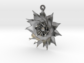 Lotus Flower in Natural Silver