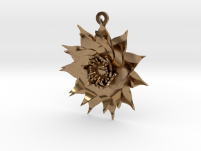 Lotus Flower in Natural Brass