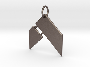 Hammer Fitness Keychain in Polished Bronzed Silver Steel