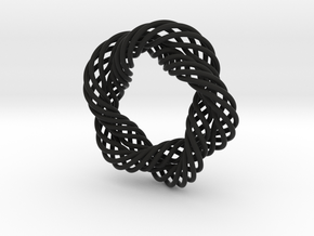 Mobius Helix in Black Natural Versatile Plastic