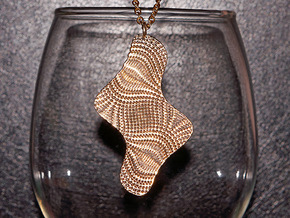 Texture #1 Pendant in Natural Brass