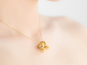 DRAGON Structura, Pendant. Strong Finesse in 18k Gold Plated Brass
