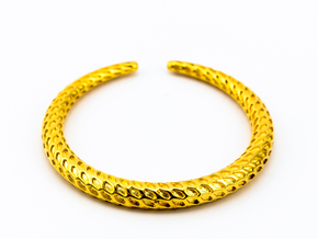 DRAGON Solid, Bracelet. in 18k Gold Plated Brass: Extra Small