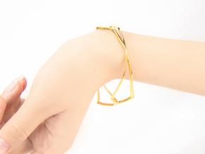 HIDDEN HEART Sharp, Bracelet. in 18k Gold Plated Brass: Extra Small