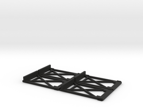 G Scale Tram Gates Set in Black Natural Versatile Plastic