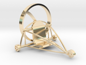Paratrike in 14k Gold Plated Brass