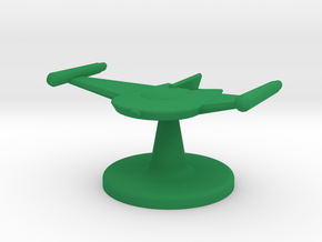Game piece Romulan Bird-of-Prey in Green Processed Versatile Plastic