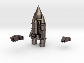 Space Shuttle in Polished Bronzed Silver Steel
