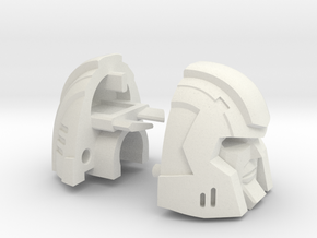 Little Heracles' Head for Combiner Wars Trucks in White Strong & Flexible
