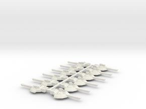 6mm Sci-Fi Tank Turrets x12 in White Natural Versatile Plastic