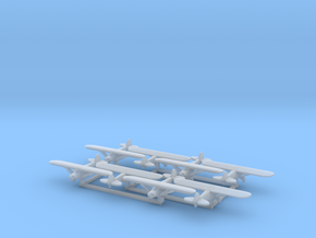 Piper PA18 - set of 8 - 1:700 scale in Smooth Fine Detail Plastic