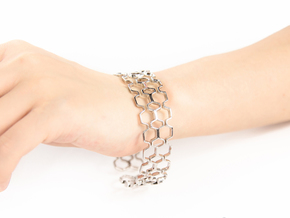 Honeyfull Second Bracelet, Medium Size, 65mm in Polished Silver: Medium