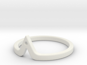 Corner Ring in White Natural Versatile Plastic