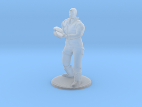 Soldier With Staff - 20 mm in Smooth Fine Detail Plastic