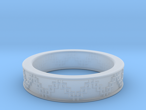 3D Printed Victory Ring   Men Size 9  in Smooth Fine Detail Plastic