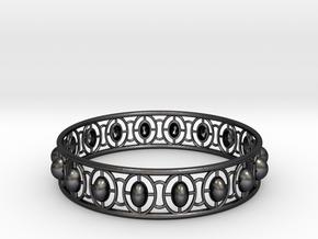 Bracelet 5 in Polished and Bronzed Black Steel