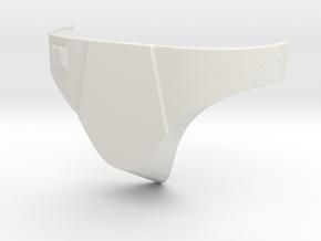 Boba Fett Cod Plate in White Natural Versatile Plastic
