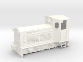 203 GTM Lok24 25 zonder naamplaat. in White Processed Versatile Plastic