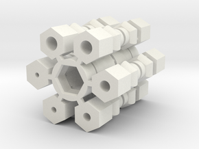 Universal Joint - Drive Shaft version in White Natural Versatile Plastic