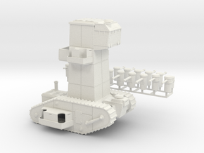 15mm AQMF COMMAND TANK MK VI in White Strong & Flexible