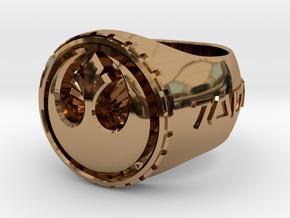 Rebel Ring 26mm in Polished Brass
