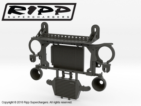 RS10002 Ripp Intercooler & Radiator Mount in Black Strong & Flexible